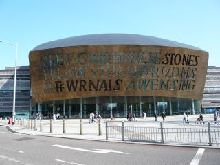 The Millenium centre, home of the Welsh National Opera.